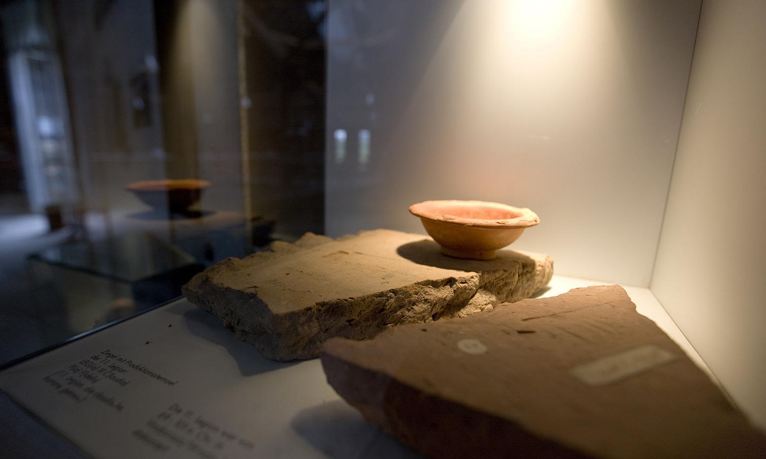 Keramik aus der Römischen Badruine Hüfingen; Foto: Staatliche Schlösser und Gärten Baden-Württemberg, Achim Mende