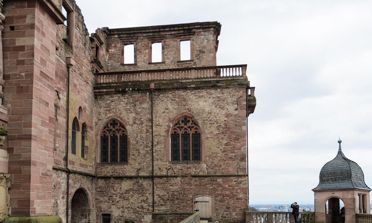 Ansicht des Fassbaus von Schloss Heidelberg; Foto: Staatliche Schlösser und Gärten Baden-Württemberg, Julia Haseloff