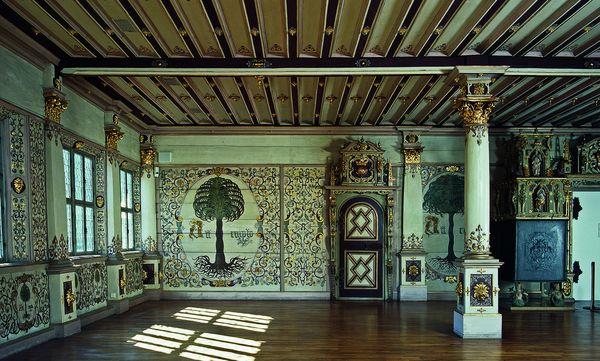 Blick in den Goldenen Saal von Schloss Urach