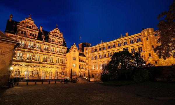 Außenansicht von Schloss Heidelberg
