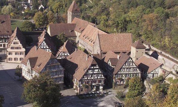 Luftaufnahme der Wirtschaftsgebäude des Klosters Maulbronn