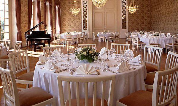 Kammermusiksaal im nördlichen Zirkelbau von Schloss Schwetzingen